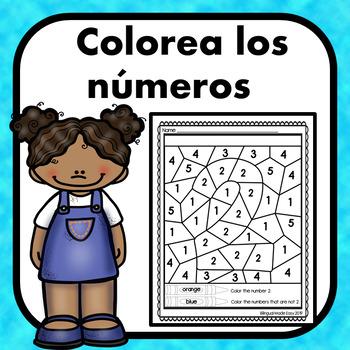 Colorea los numeros