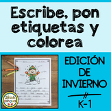 Escribe, pon etiquetas, y colorea – Winter Writing Center