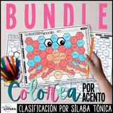 Colorea por Acento Acentuación Spanish Accents Coloring Wo