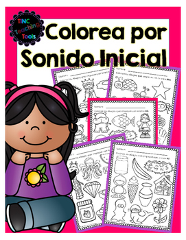 Colorea por Sonido Inicial / Color by Beginning Sound