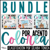 Colorea por Acento Acentuación Spanish Accents Coloring Wo