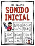 Colorea por el sonido inicial- Color by Initial Sound in Spanish
