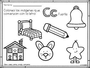 Colorea el Alfabeto por Sonido Inicial (Spanish Color by Beginning Sound)