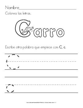 Colorea y Escribe la Palabra: Ejercicios de Letra Manuscrita