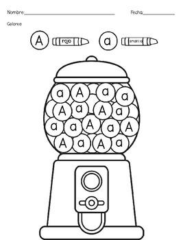Colorear Letras/ mayúsculas y minúsculas
