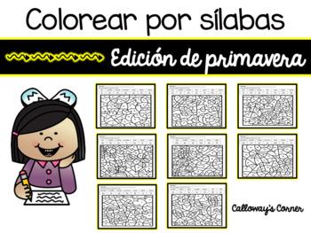 Colorear paisajes por silabas