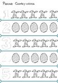 Colorear y Contar Pascua