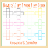 Colored 10 More 10 Less 1 More 1 Less Blank Templates Clip Art Commercial Use