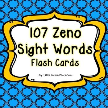 Colored 107 Zeno Sight Words