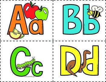 Colored Alphabet Flash Cards