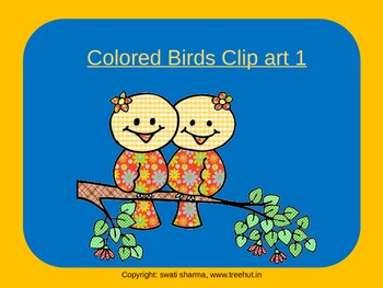 Colored Birds Clip art 1