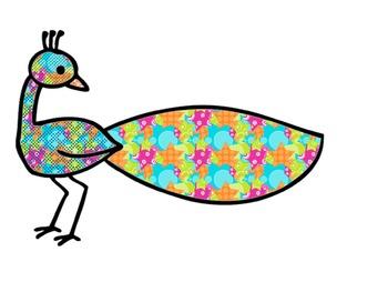 Colored Birds Clip art 1