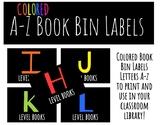 Colored Book Bin Labels A-Z