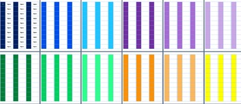 colored book spine labels for classroom library editable by