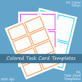 Colored Border Task Card Templates for TPT Sellers Clip Ar