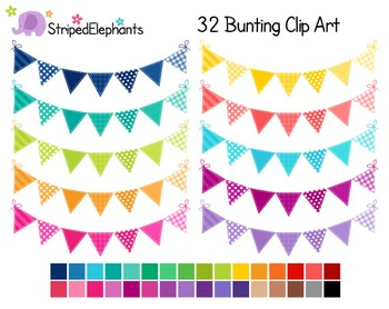 Colored Bunting Clip Art