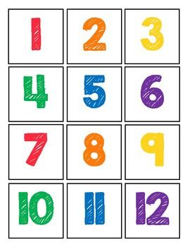 Colored Calendar Set