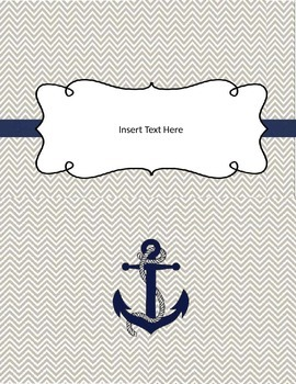 Colored Chevron Anchor Binder Covers Editable in PPT