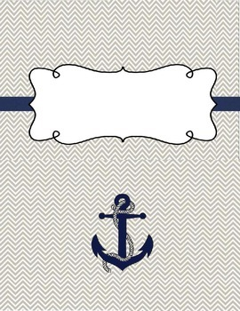 Colored Chevron Anchor Binder Covers