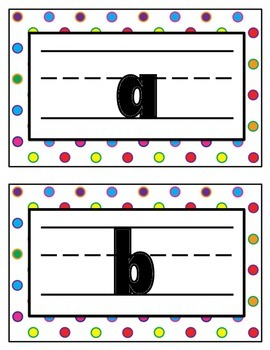Colored Circles Lower Case Alphabet Signs
