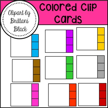 Colored Clip Cards