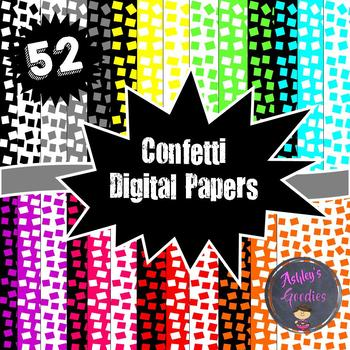 Colored Confetti Digital Papers and Matching Frames!