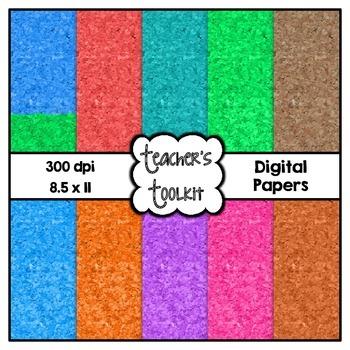 Colored Cork Digital Background Papers {8.5 x 11} Clip Art CU OK