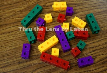 Colored Counting Cubes Stock Photo #105