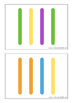 Colored Craft Stick Sequences