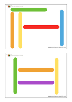 Colored Craft Stick Spatial Patterns