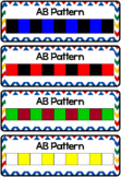 Colored Cube Pattern Cards