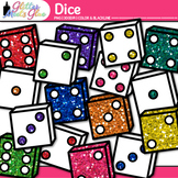 Dice Clip Art | Rainbow Glitter Math Manipulatives for Center Activities