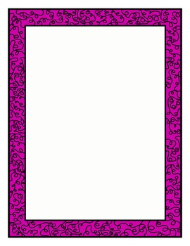 Colored Doodle Frames and Borders clipart - Set 2