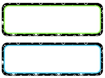 Colored Dot Circle1- Poster Header and Corresponding Cards -Editable