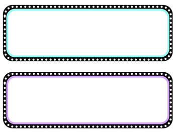 Colored Dot Circle2- Poster Header and Corresponding Cards -Editable