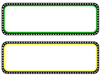 Colored Dot Circle3- Poster Header and Corresponding Cards -Editable