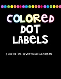 Colored Dot Labels
