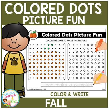 Colored Dots Picture Fun: Fall