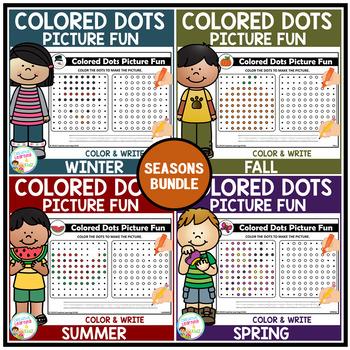 Colored Dots Picture Fun: Seasons Bundle