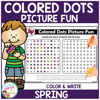 Colored Dots Picture Fun: Spring