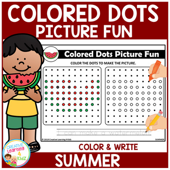 Colored Dots Picture Fun: Summer