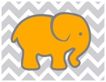 Colored Elephants Clipchart