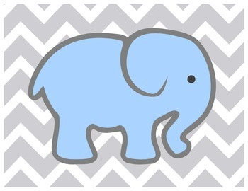 Colored Elephants Clipchart