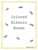 Colored Elkonin Boxes