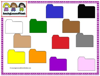 Colored File Folders Clipart