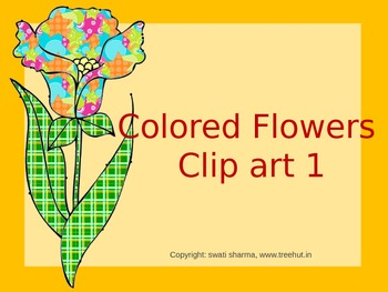 Colored Flowers Clip art 1