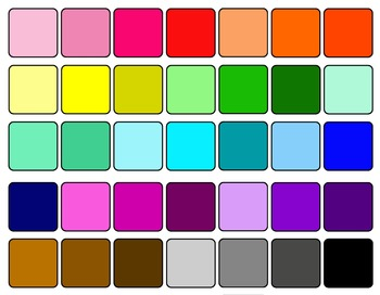 Colored Frames and Borders clipart - Set 2
