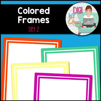 Colored Frames and Borders Clip Art