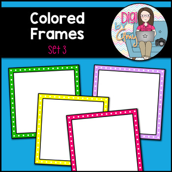 Colored Frames and Borders clipart - Set 3