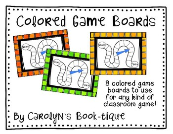 Colored Game Boards